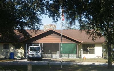 Lake Placid, Avon Park, Sebring, Lorida Single Family Home Contingent: 440 Moon Ranch Road