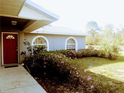 Lake Placid, Avon Park, Sebring, Lorida Single Family Home For Sale: 481 Goff Lane