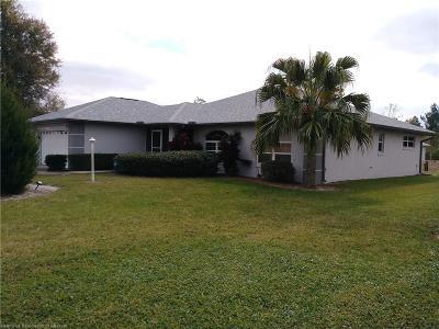 Sebring Single Family Home For Sale: 6315 Columbus Boulevard