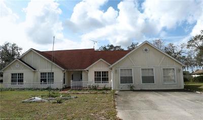 Avon Park Single Family Home For Sale: 2231 N Bennett Road