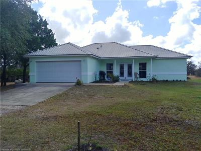 Lake Placid, Avon Park, Sebring, Lorida Single Family Home For Sale: 4550 E C Hill Road
