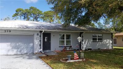 Sebring Single Family Home For Sale: 319 Lark Avenue
