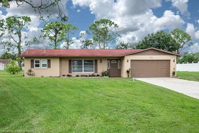 Sebring Single Family Home For Sale: 312 Blazing Star Road
