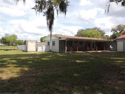 Lake Placid, Sebring, Lorida, Avon Park, Venus Single Family Home For Sale: 3719 Oakview Drive