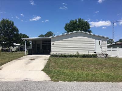 Sebring Single Family Home For Sale: 1128 Sunbird Court