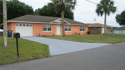 Sebring Single Family Home For Sale: 1707 Myrtle Avenue
