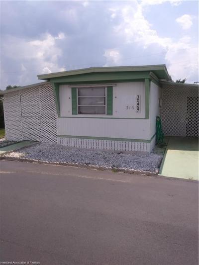 Sebring Single Family Home For Sale: 30457 Francis Street