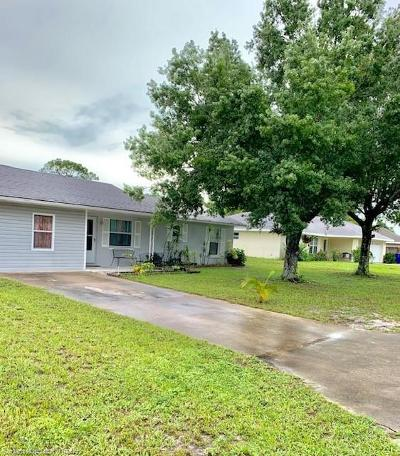 Sebring Single Family Home For Sale: 4413 Snapper Drive