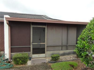 Sebring Condo/Townhouse For Sale: 4721 Vilabella Drive