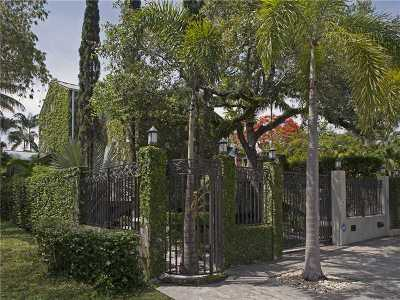 Coconut Grove Single Family Home For Sale: 2523 Lincoln Ave