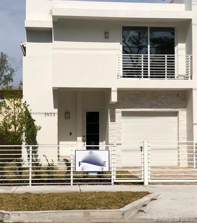 Coconut Grove Condo/Townhouse For Sale: 3503 Day Ave