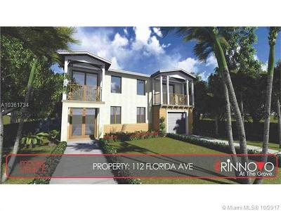 Coconut Grove Single Family Home For Sale: 112 Florida Ave