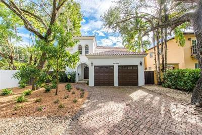 Coconut Grove Single Family Home For Sale: 4180 Poinciana Ave