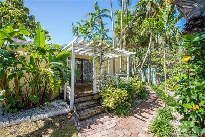 Coconut Grove Single Family Home For Sale: 2900 Calusa St