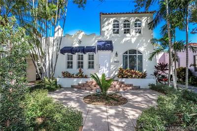 Coral Gables Single Family Home For Sale: 821 Milan Ave