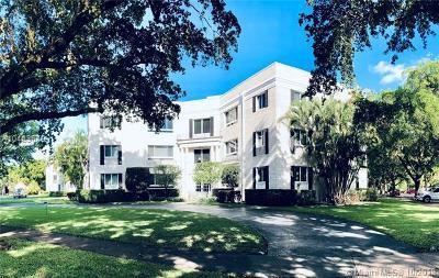 Coral Gables Condo/Townhouse For Sale: 2845 Granada Blvd #3C
