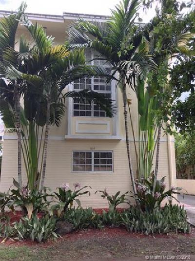 Coral Gables Condo/Townhouse For Sale: 514 Santander Ave #2