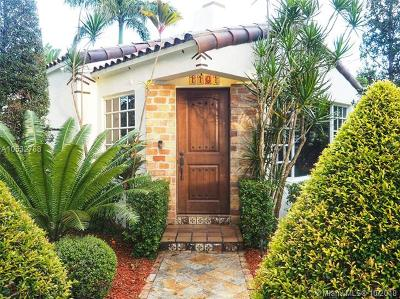 Coral Gables Single Family Home For Sale: 1101 Cortez St