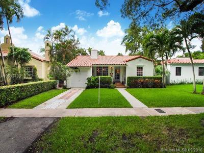 Coral Gables Single Family Home For Sale: 509 Alcazar Ave