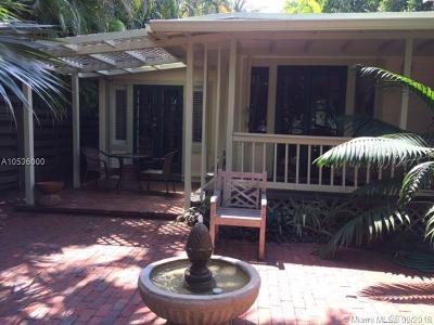 Coconut Grove Single Family Home For Sale: 4245 Lennox Dr