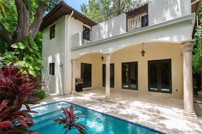 Coconut Grove Single Family Home For Sale: 3621 S Le Jeune Rd