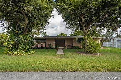 South Miami Single Family Home For Sale: 6635 SW 49th Ter