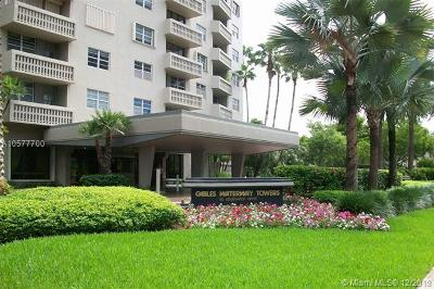 Coral Gables Condo/Townhouse For Sale: 90 Edgewater Dr #1019