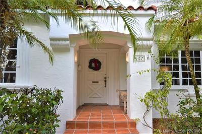 Coral Gables Single Family Home For Sale: 837 Navarre Ave