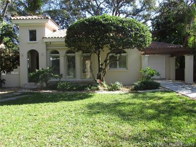 Coral Gables Single Family Home For Sale: 825 Monterey St