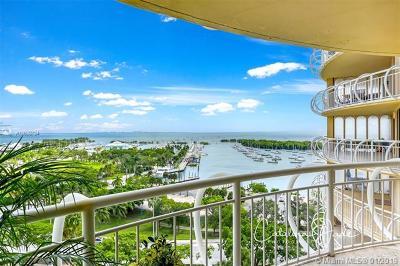 Coconut Grove Condo/Townhouse For Sale: 2843 S Bayshore Dr #12F