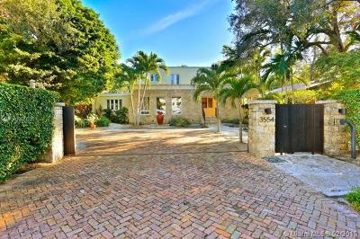 Coconut Grove Single Family Home For Sale: 3554 Palmetto Ave