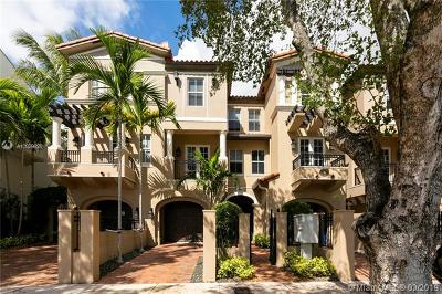 Coral Gables Condo/Townhouse For Sale: 615 Santander Ave #B