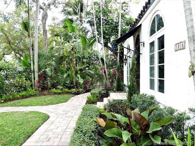 Coral Gables Single Family Home For Sale: 1215 Madrid Street