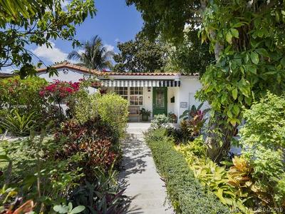 Coral Gables Single Family Home For Sale: 836 Wallace St