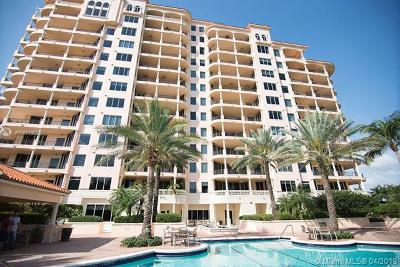 Coral Gables Condo/Townhouse For Sale: 13621 Deering Bay Dr #901