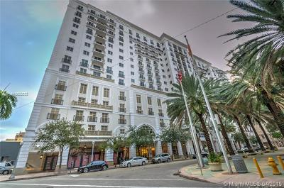 Coral Gables Condo/Townhouse For Sale: 10 Aragon Ave #1120