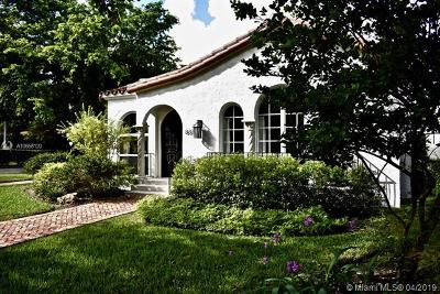 Coral Gables Single Family Home For Sale: 837 Obispo Ave