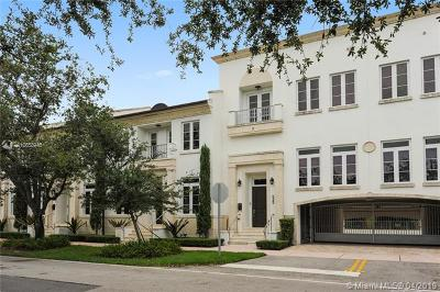 Coral Gables Condo/Townhouse For Sale: 525 Anastasia Ave #525
