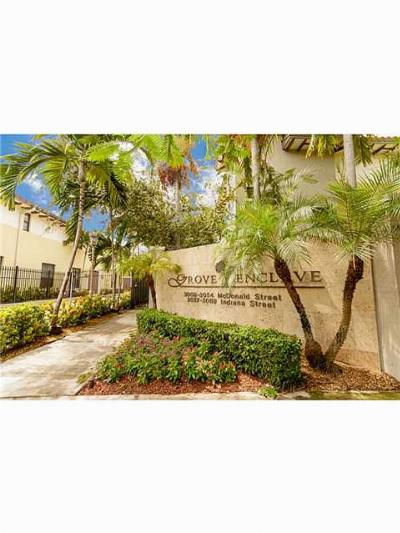 Coconut Grove Condo/Townhouse For Sale: 3055 Indiana St #13