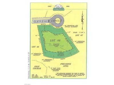 Collier County, Lee County Residential Lots & Land For Sale: 5816 Glenholme Cir