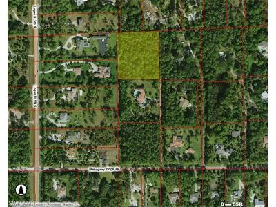 Naples Residential Lots & Land For Sale: 5361 Mahogany Ridge Dr