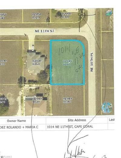 Lee County Residential Lots & Land For Sale: 1014 NE 11th St