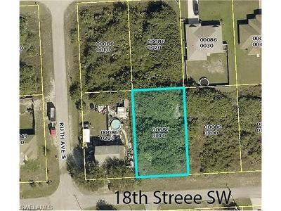 Lee County Residential Lots & Land For Sale: 3218 18th St SW