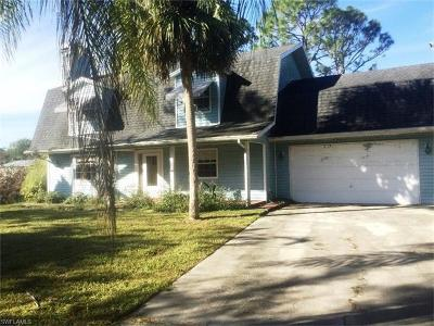 North Fort Myers Single Family Home For Sale: 7000 Slater Pines Dr