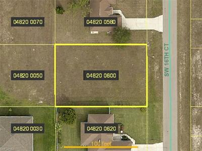 Lee County Residential Lots & Land For Sale: 1522 SW 16th Ct