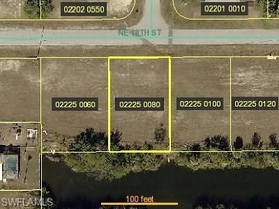 Lee County Residential Lots & Land For Sale: 1626 NE 18th St