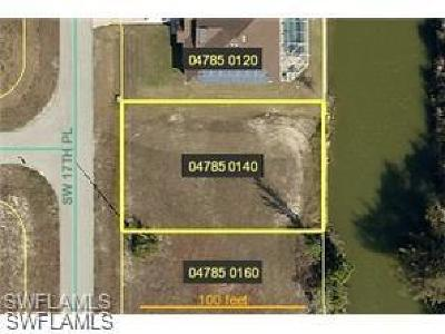 Lee County Residential Lots & Land For Sale: 1337 SW 17th Pl