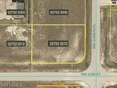 Lee County Residential Lots & Land For Sale: 2200 NW Juanita Pl