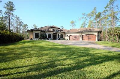 Naples Single Family Home Pending With Contingencies: 6140 Bur Oaks Ln