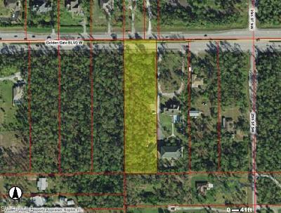 Naples Residential Lots & Land For Sale: Golden Gate Blvd W